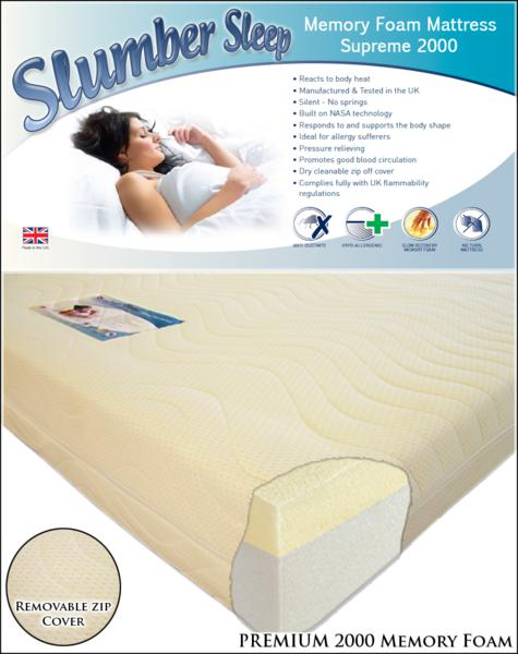 Slumber Sleep Premium 2000 Memory Foam from £219