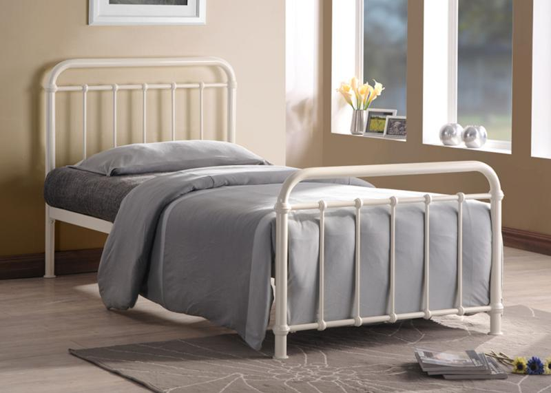 TIME LIVING Miami 3ft Ivory Metal Bed Frame £119
