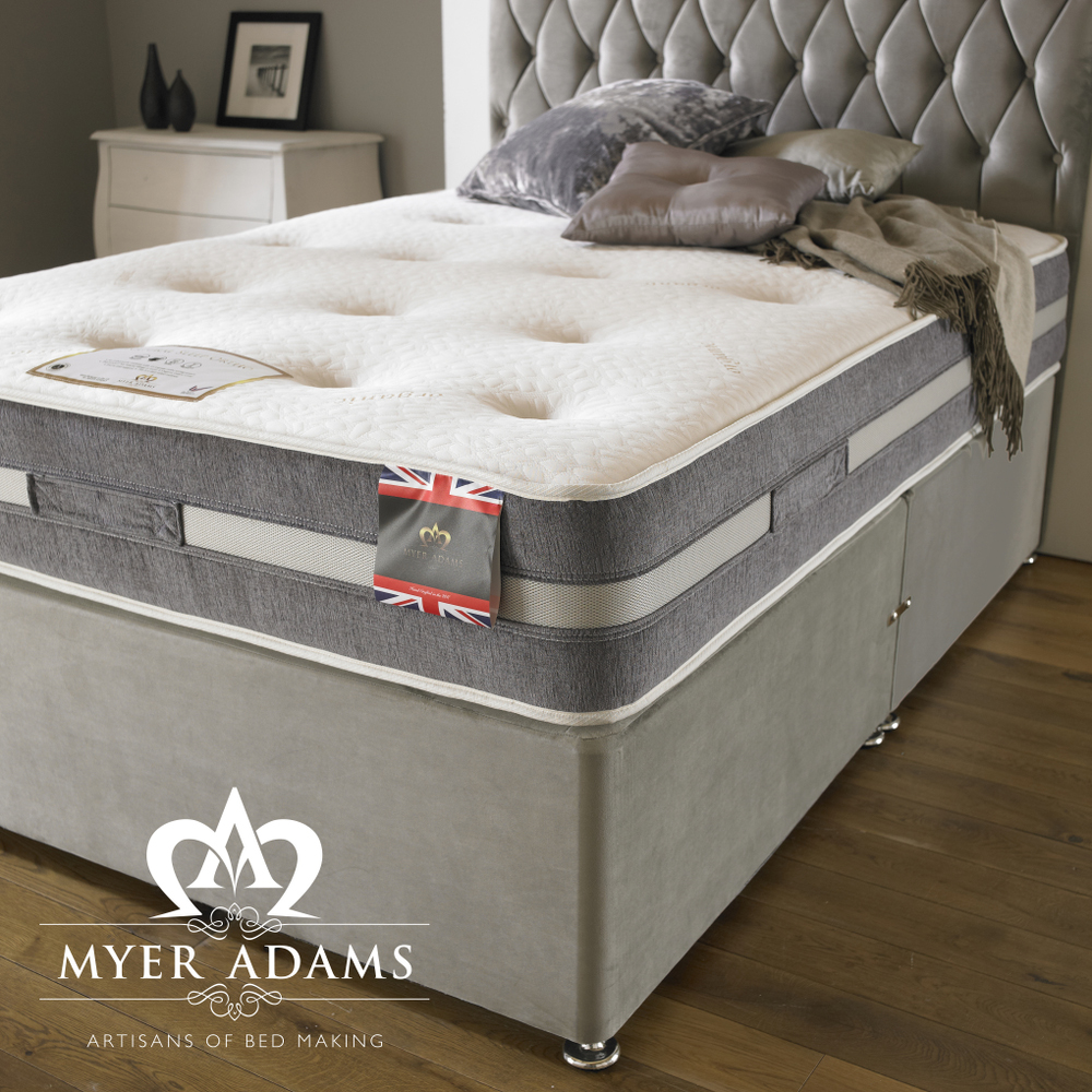 MYER ADAMS Natural Sleep Orthopaedic Divan Bed Set from £279
