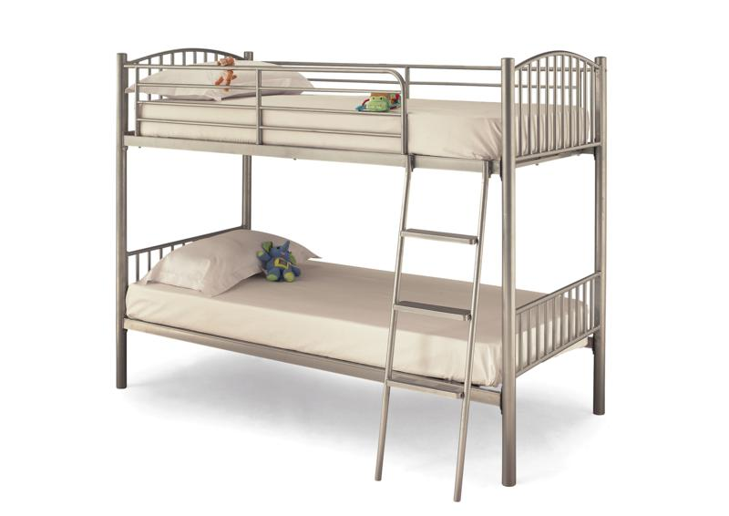 SERENE Oslo Twin Sleeper Bunk Bed in Silver £199