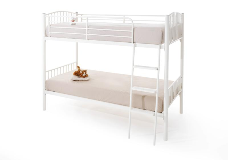 SERENE Oslo Twin Sleeper Bunk Bed in White £199