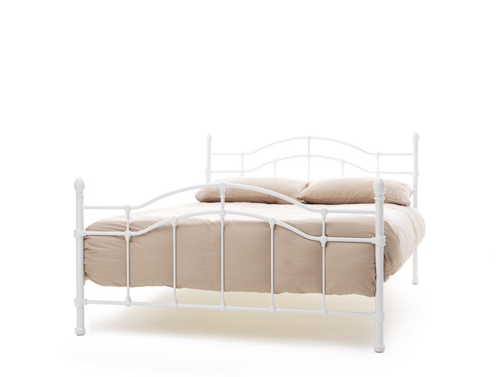 Serene Paris White Gloss Metal Frame Bed £119