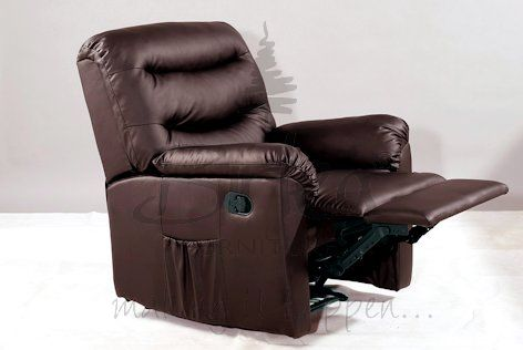 BIRLEA Regency Brown Recliner Chair