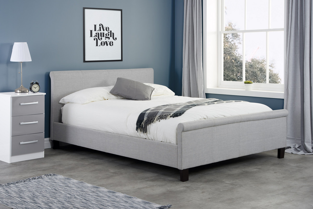Birlea Stratus Grey Fabric Bed Frame from £199