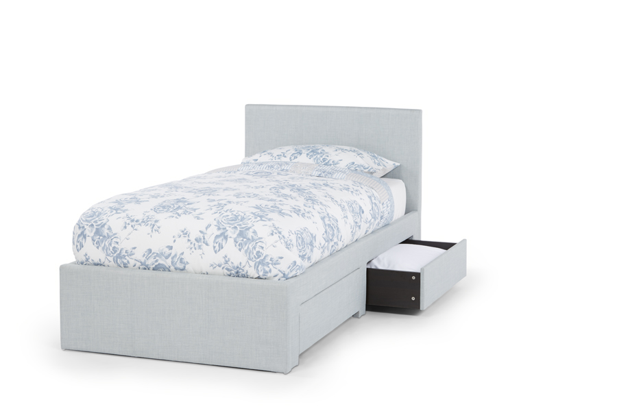 Serene Scarlett 3ft Single Upholstered Ice Two Drawer Bed Frame £259