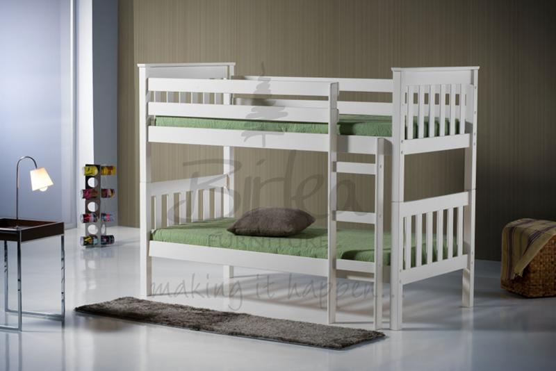 Seattle 3ft Wood Bunk Bed in Ivory
