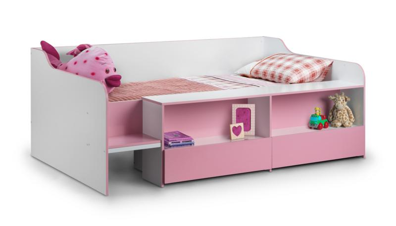 Julian Bowen Stella Low Sleeper Cabin Bed in Pink £199