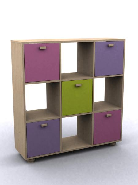 GFW SYDNEY Childrens Pink 3x3 Cube Storage Unit