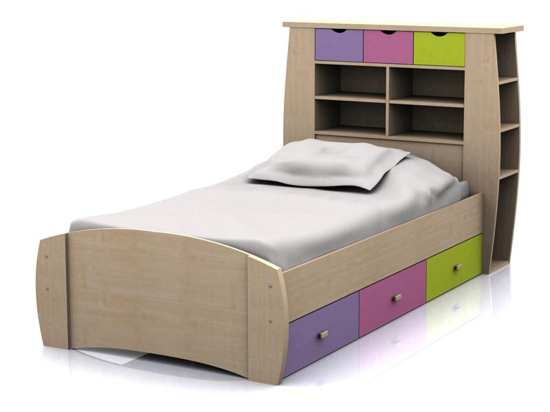 GFW SYDNEY Childrens Pink 3ft Single Storage Bed Frame