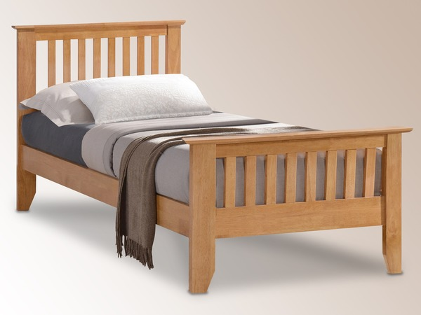 TIME LIVING Turin Hevea 3ft Single Hevea Wooden Bed Frame