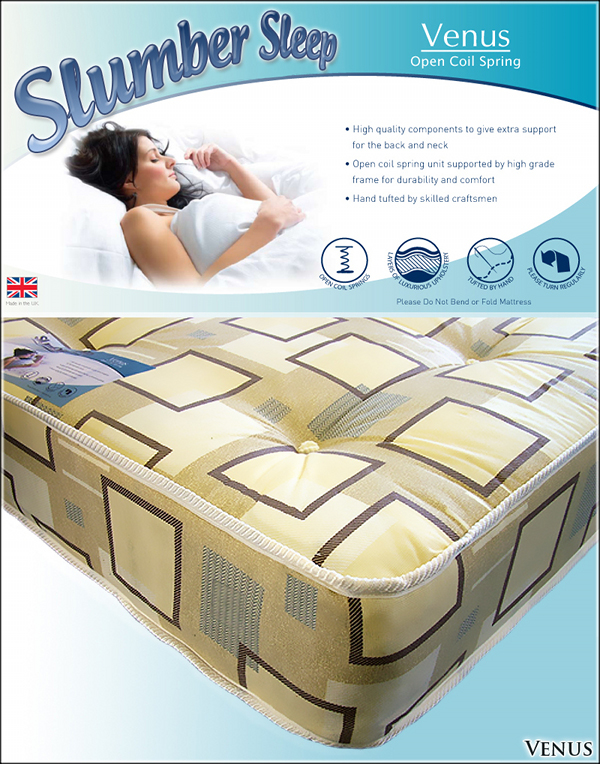 SLUMBER SLEEP 4ft6 Double Venus Damask Mattress £149