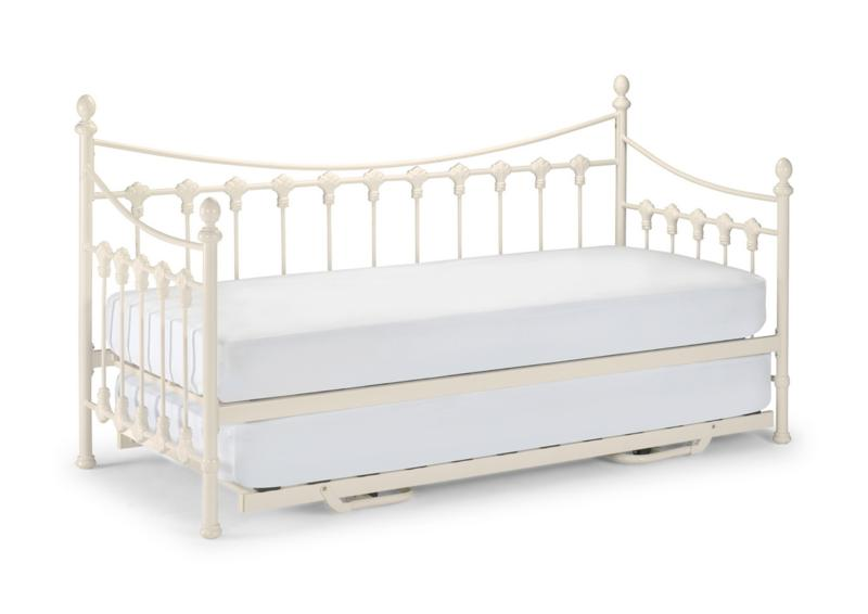 Julian Bowen Versailles Stone White Metal Day Bed from £169
