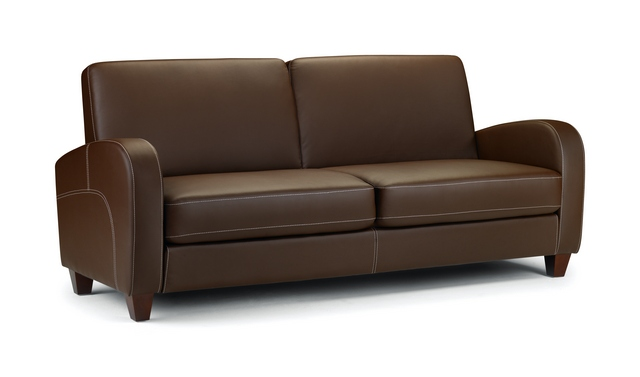 Vivo 3 Seater Sofa in Chestnut Faux Leather £299