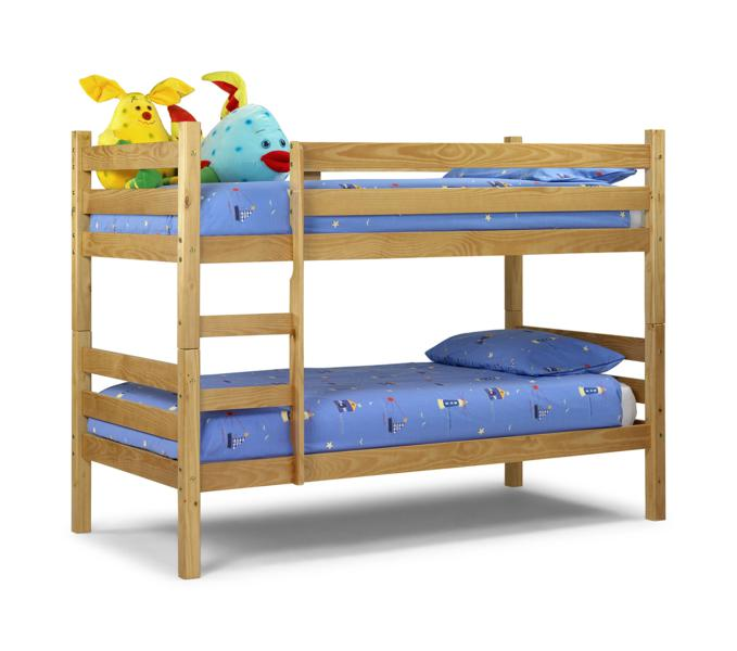Julian Bowen Wyoming Pine Wooden Bunk Bed from £179
