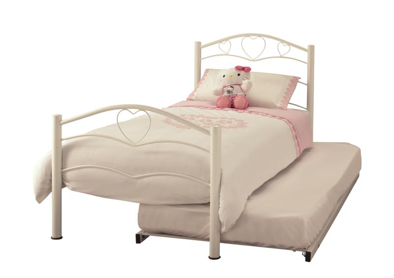 Serene Yasmin White Metal guest Bed Frame £178