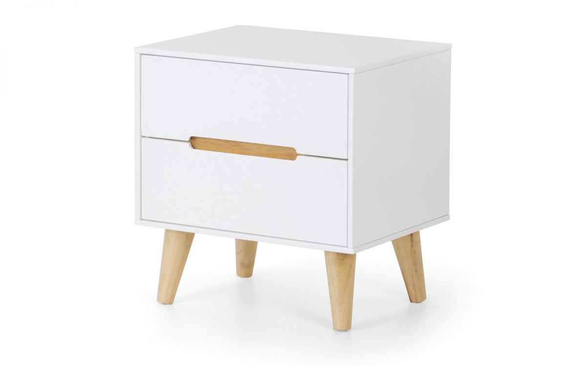 Julian Bowen Alicia White 2 Drawer Cabinet £99