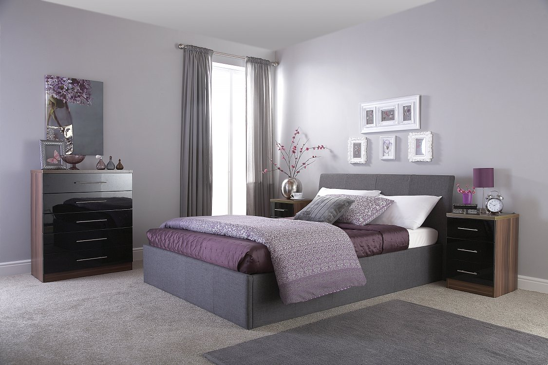GFW Ascot Grey Fabric Ottoman Storage Bedstead from £219