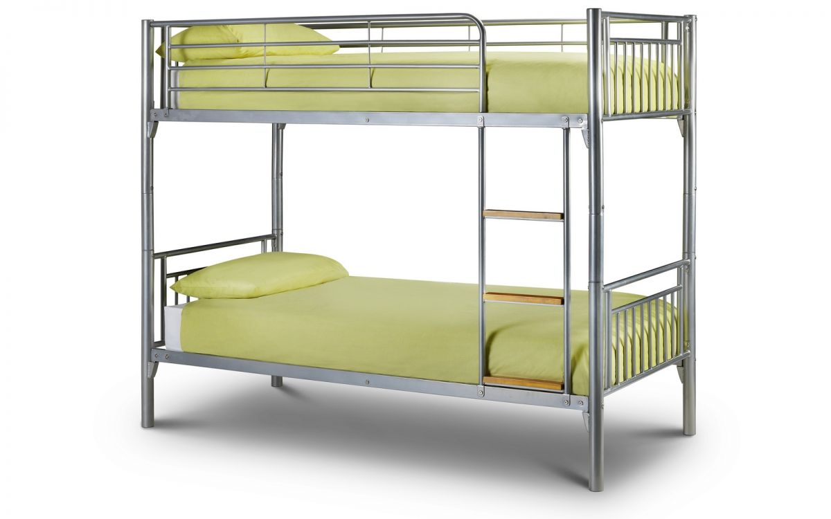 Julian Bowen Atlas Bunk Beds and 2 x Premier Mattress Deal £279