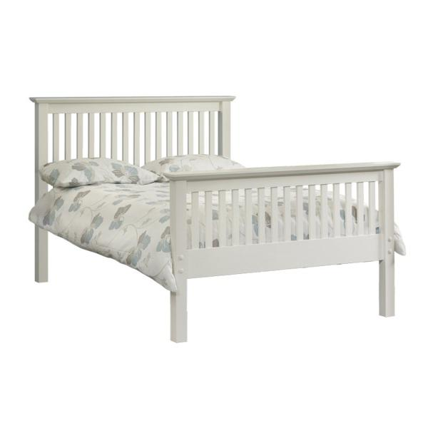 Double High Foot End Stone White Barcelona Frame and Mattress Deals