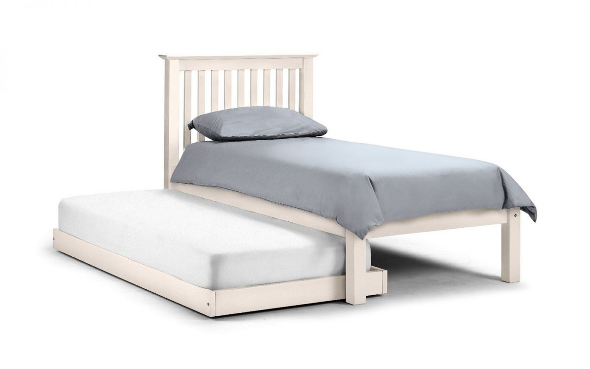 Julian Bowen Barcelona Hideaway Wooden Guest Bed Frame in Stone White £359