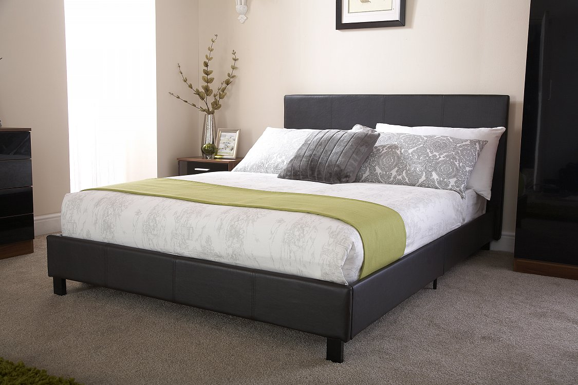 Bed in a Box Faux Leather Frame in Black from £84.99
