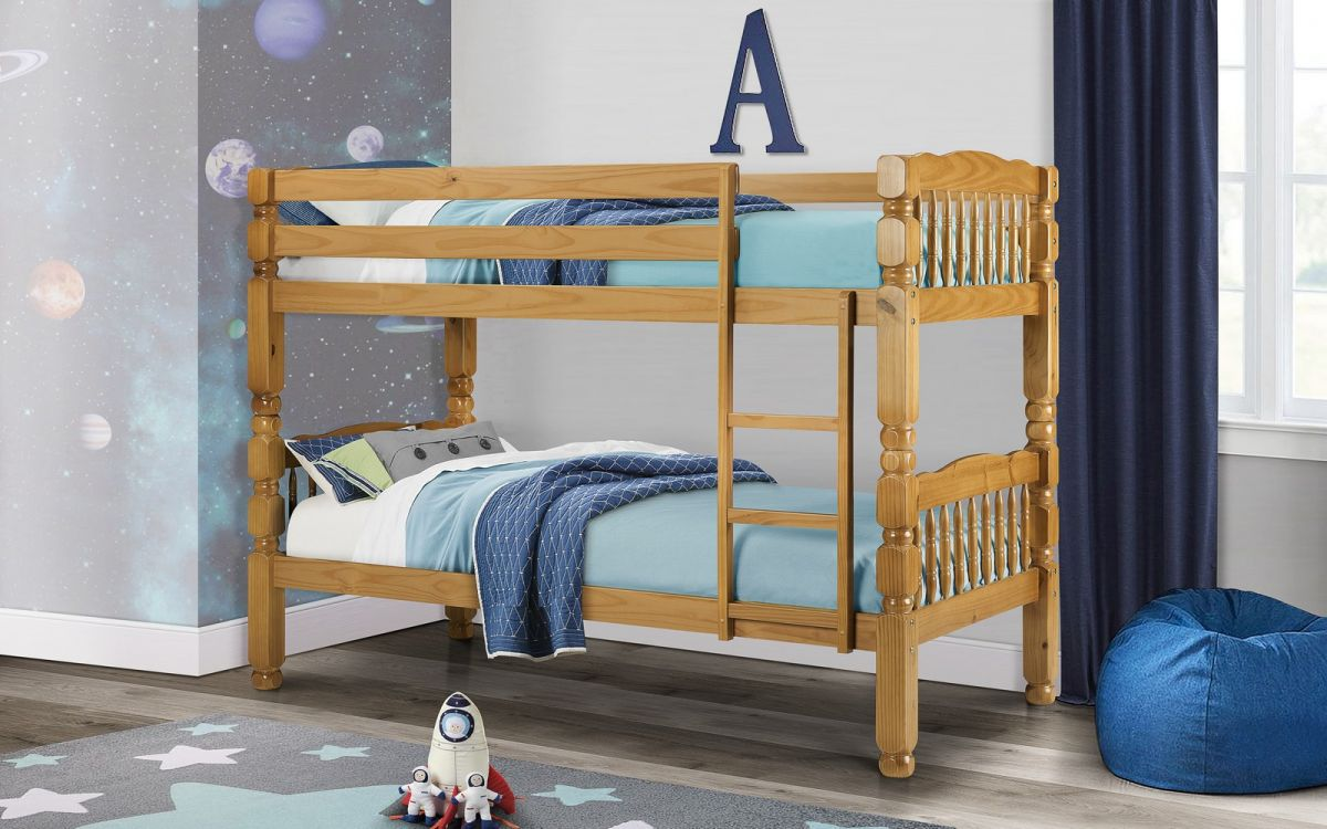 Julian Bowen 3ft Chunky Pine Wooden Bunk Bed £329