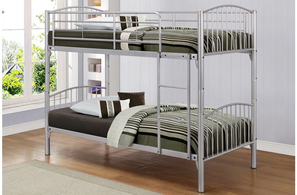 BIRLEA Corfu Metal Frame Bunk Bed £199