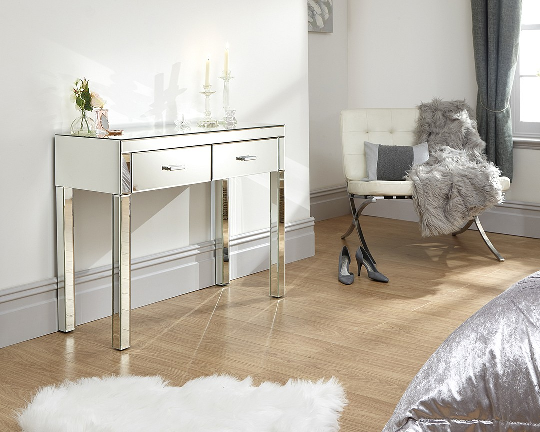 Venetian 2 Drawer Mirrored Dressing Table £219