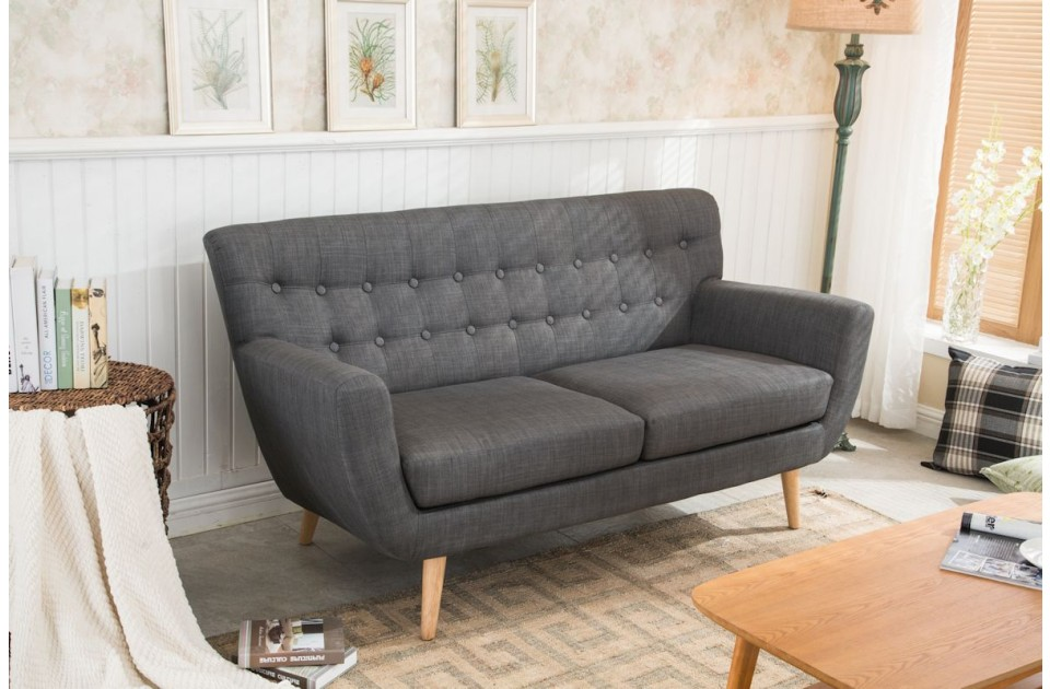 Birlea Loft 3 Seater Sofa in Grey £349