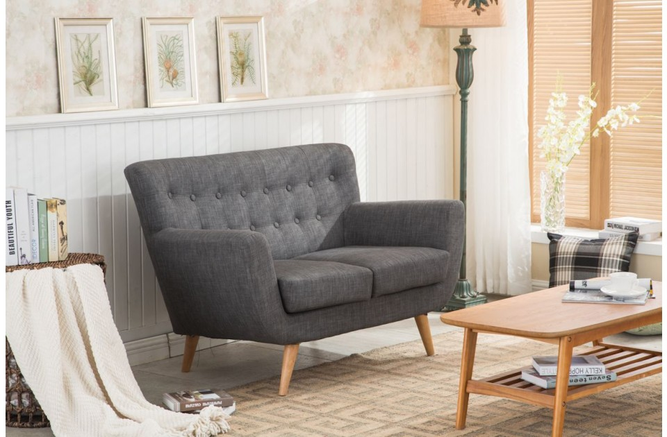 Birlea Loft 2 Seater Sofa in Grey £299