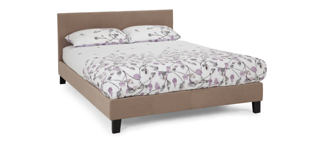 Serene Furnishings Evelyn Fabric Bed Frame in Latte from £99