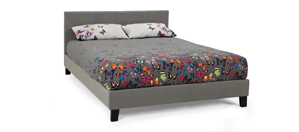 Serene Furnishings Evelyn Fabric Bed Frame in Steel Grey from £99
