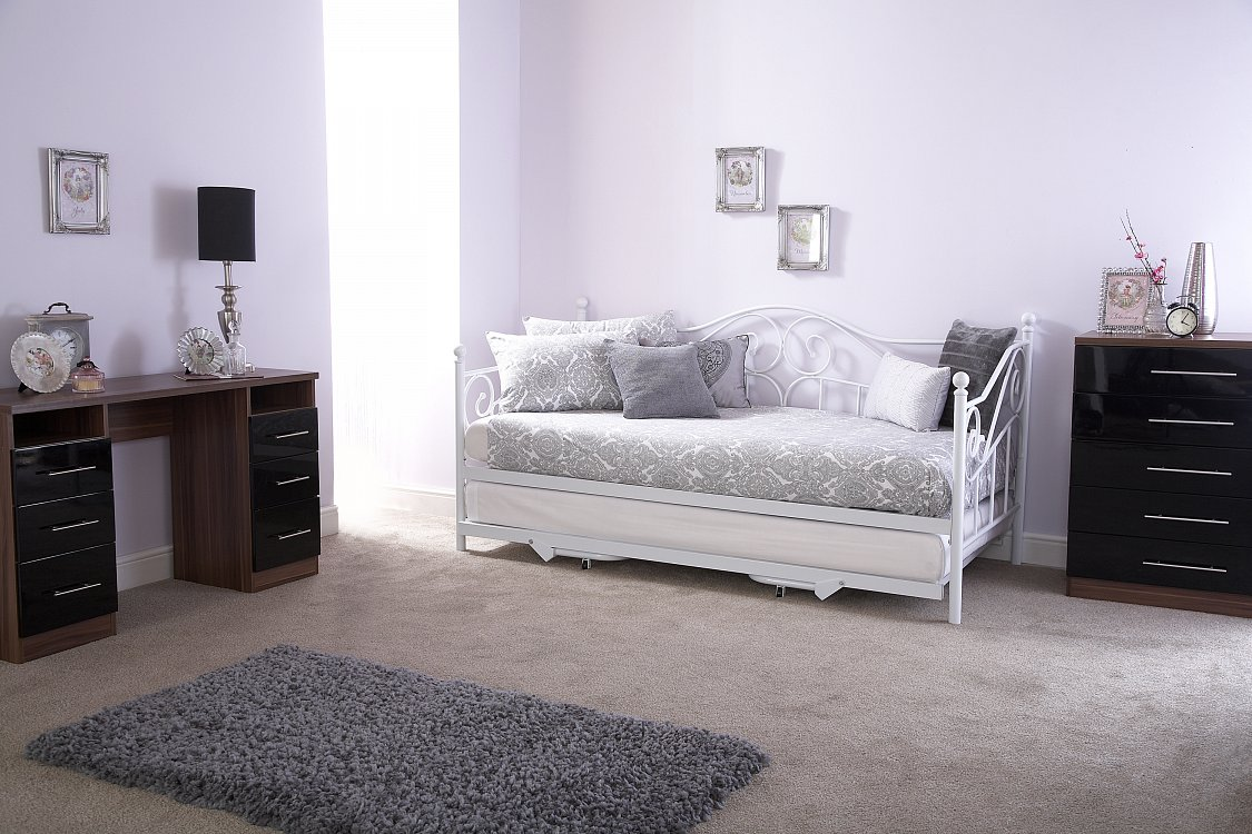 Madison Day Bed and Trundle Set in White from £109