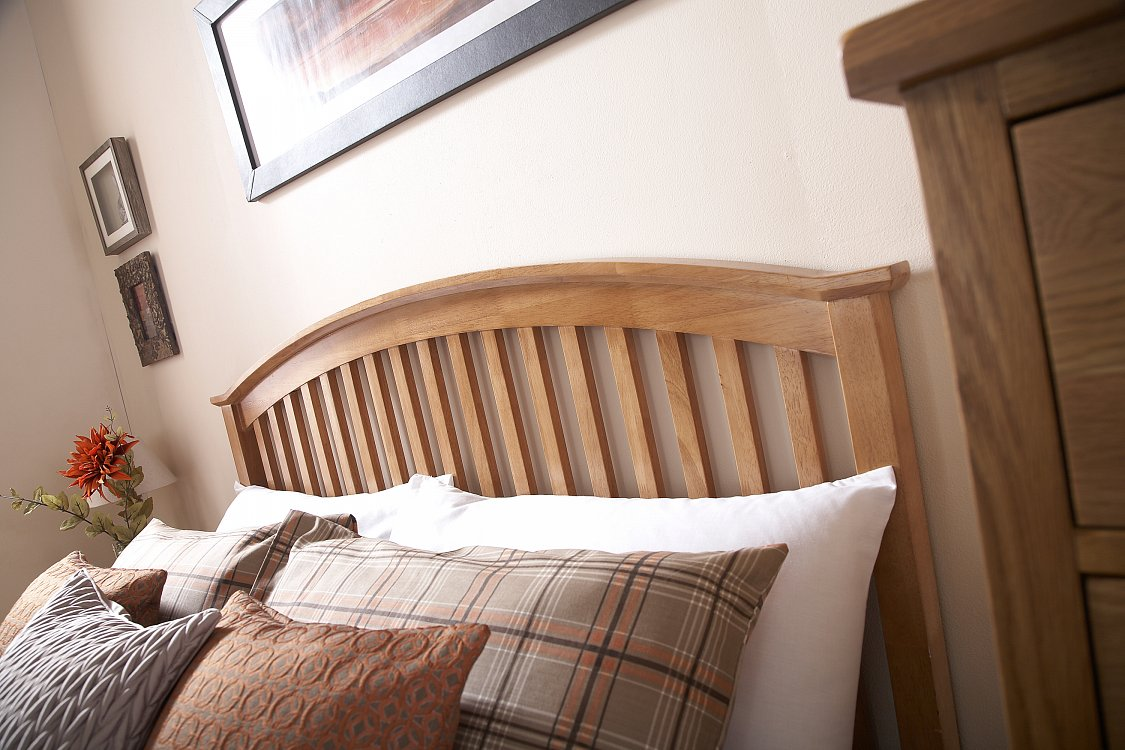 Gfw Madrid Wooden Ottoman Bed Frame In Oak Beds Direct