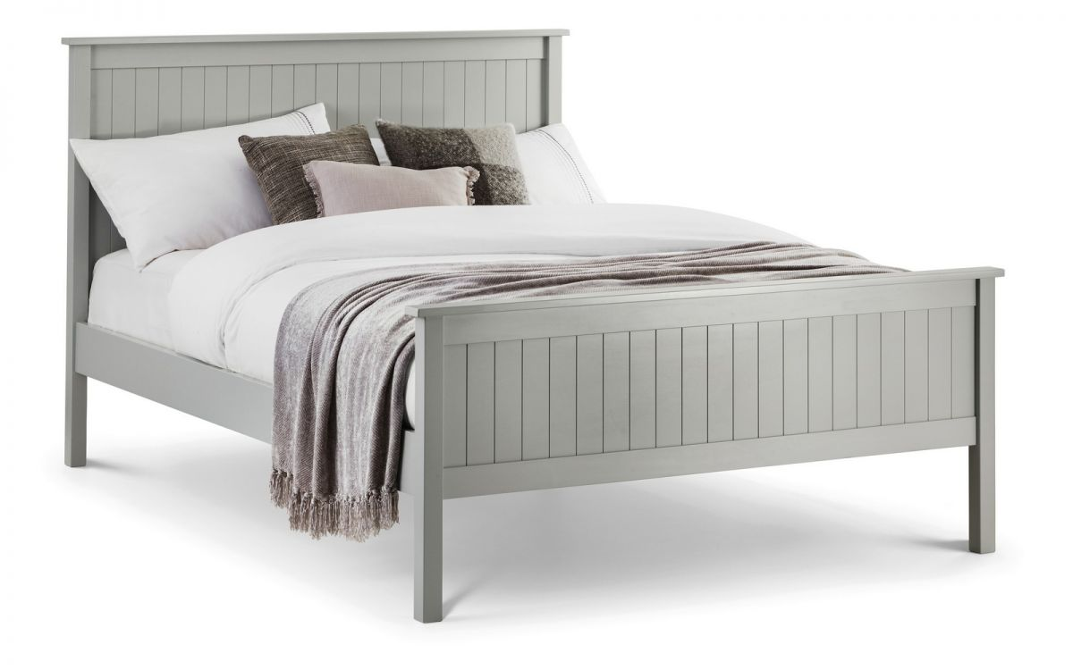 Maine Dove Grey Wooden Bed from Julian Bowen £179