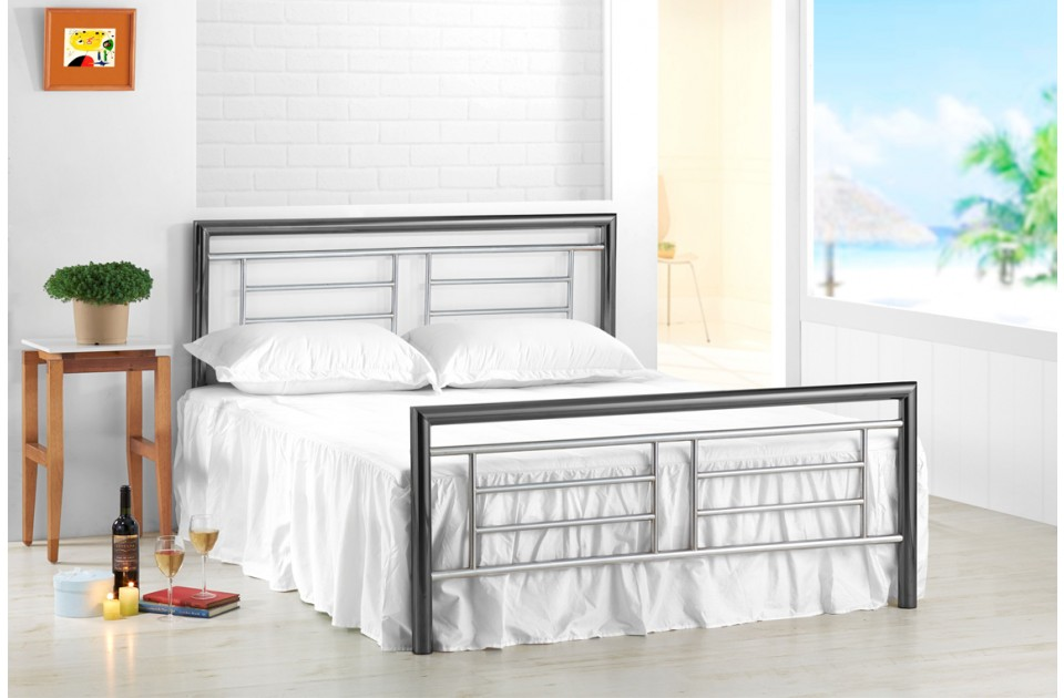 Birlea Montana 5ft King Size Chrome and nickel Bed Frame £329