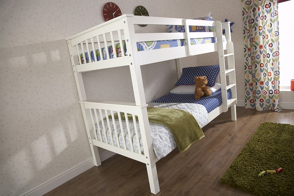 GFW Novaro White Bunk Beds £289