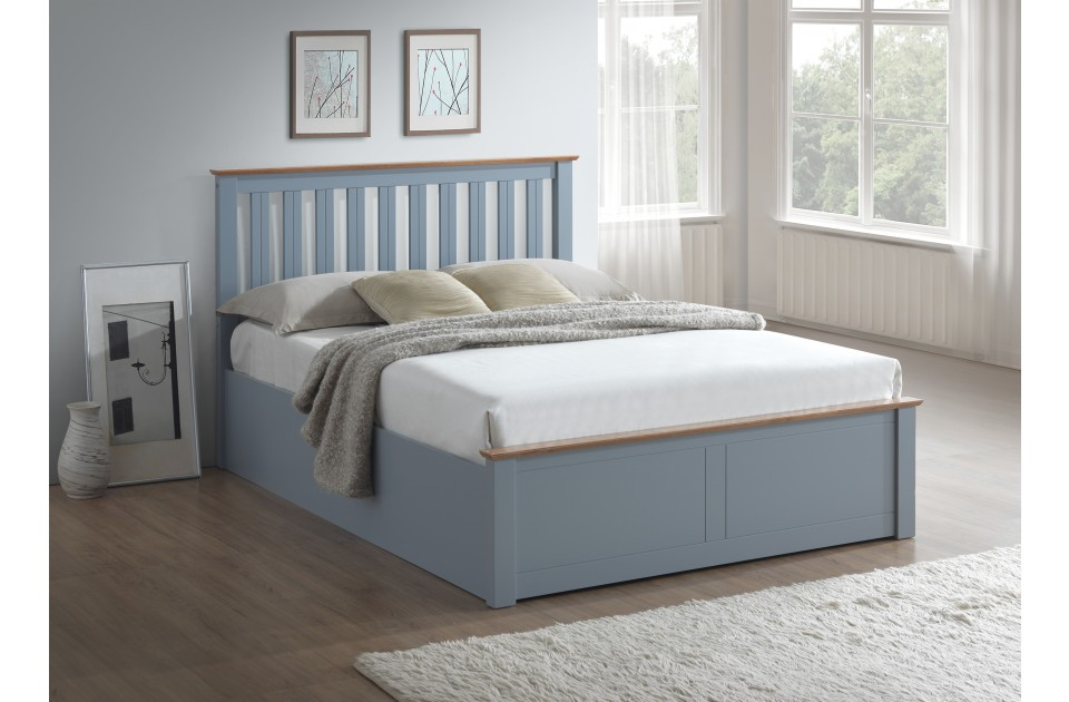 BIRLEA Phoenix Ottoman Storage Bed Frame in Grey from £309