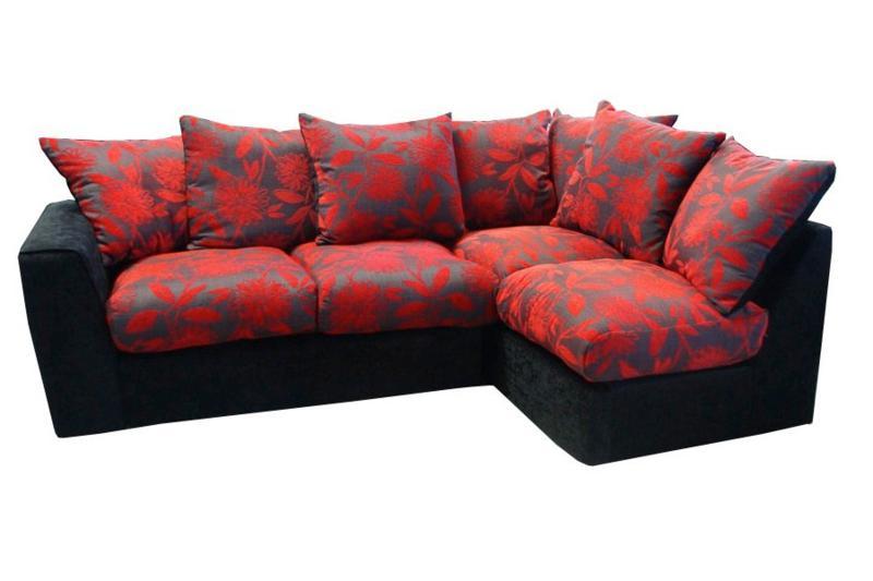 Red And Black Corner Sofa | Baci Living Room