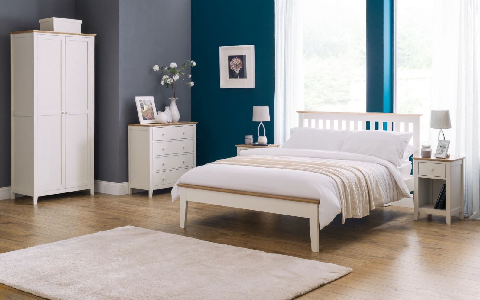 Salerno Two Tone Ivory and Oak