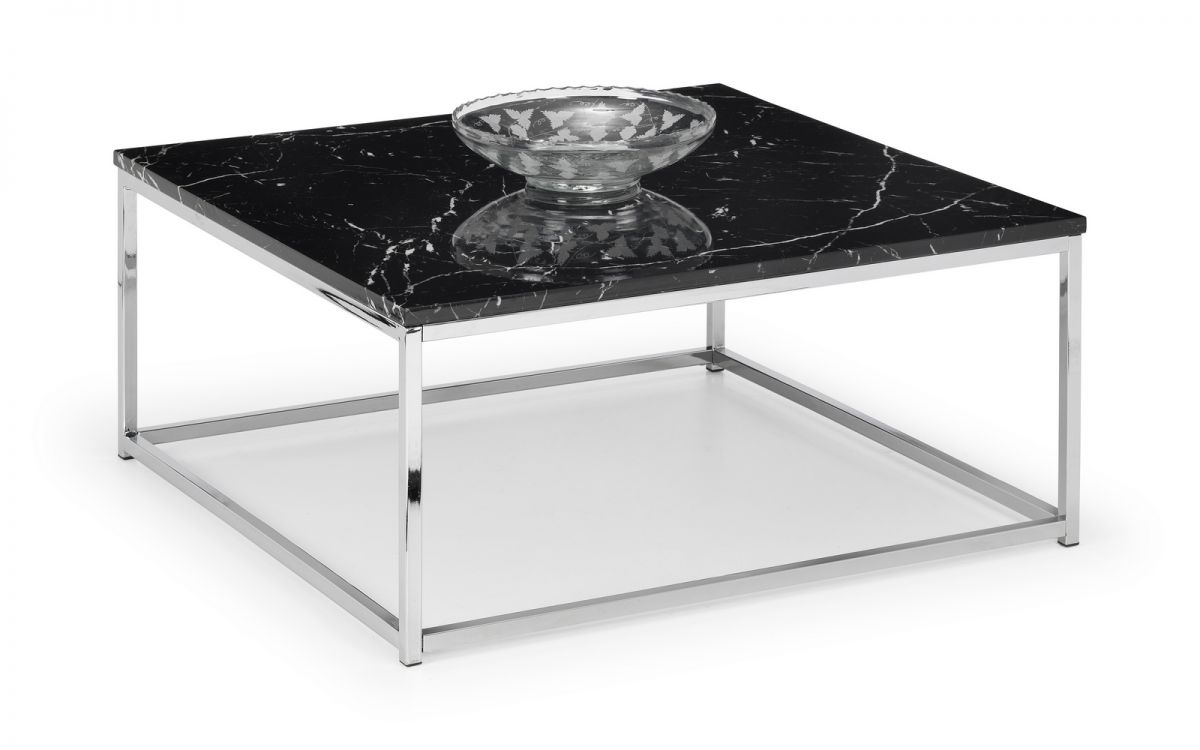 Scala Black Marble Top Coffee Table by Julian Bowen £119