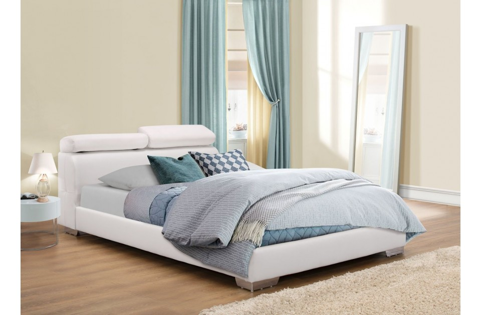 BIRLEA Signature White Faux Leather Bed Frame £299
