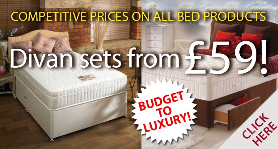 Divan Sets from £59 - Budget to Luxury