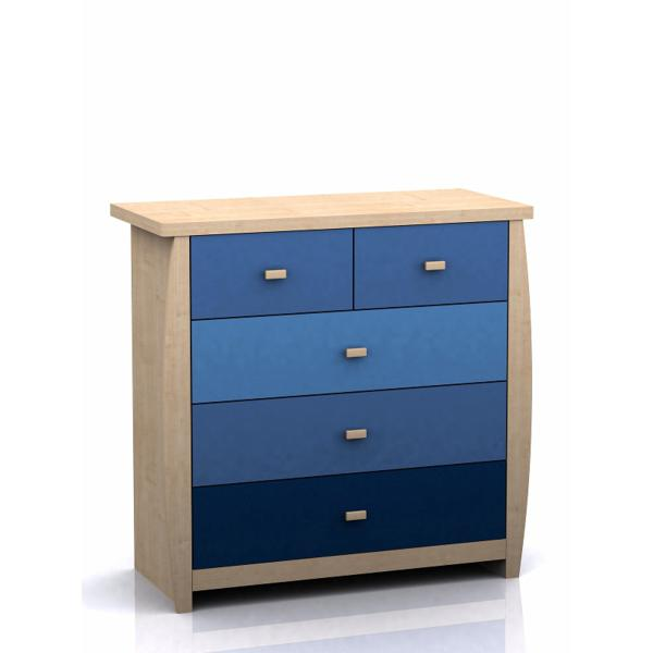 GFW SYDNEY Childrens 3+2 Drawer Chest In Blue