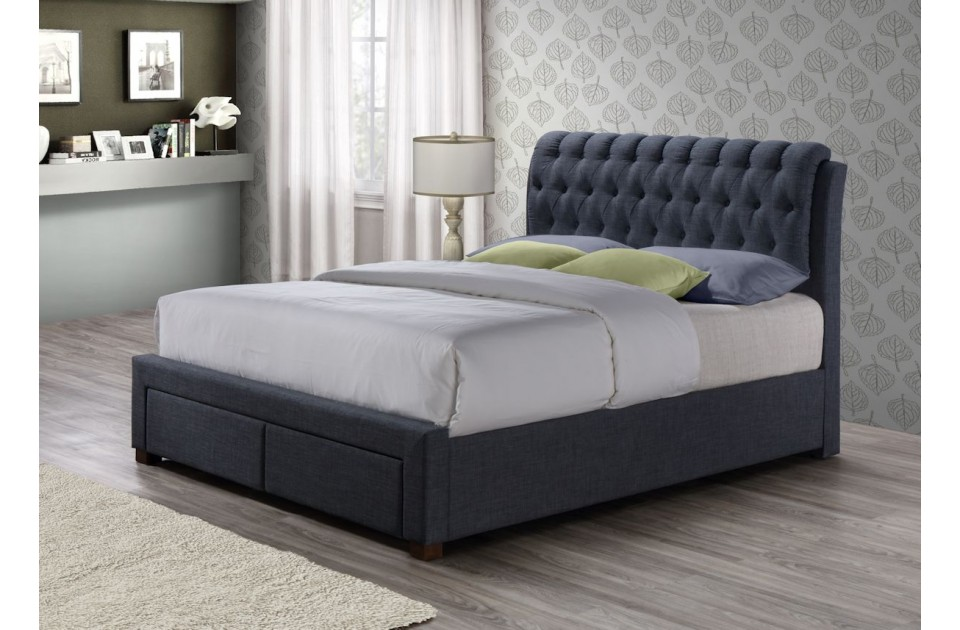 Birlea Valentino 5ft King Size 2 Drawer Storage Bed Frame in Charcoal £439