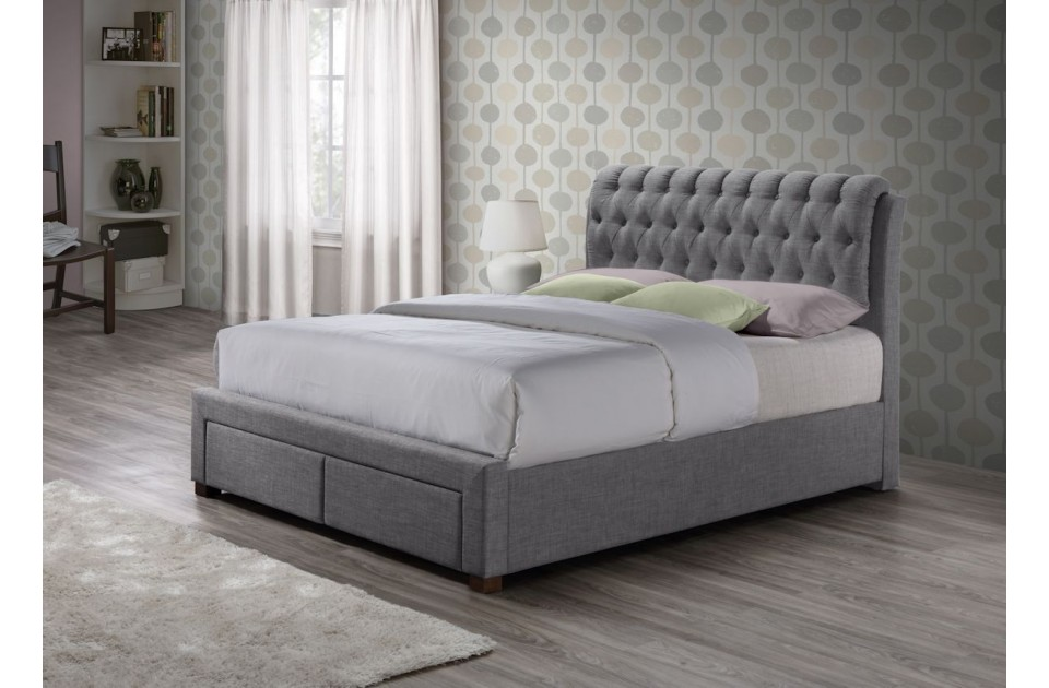 Birlea Valentino 5ft King Size 2 Drawer Storage Bed Frame in Grey £439