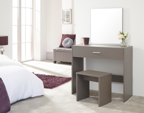 Julia Dressing Table & Stool Set in Grey  £79