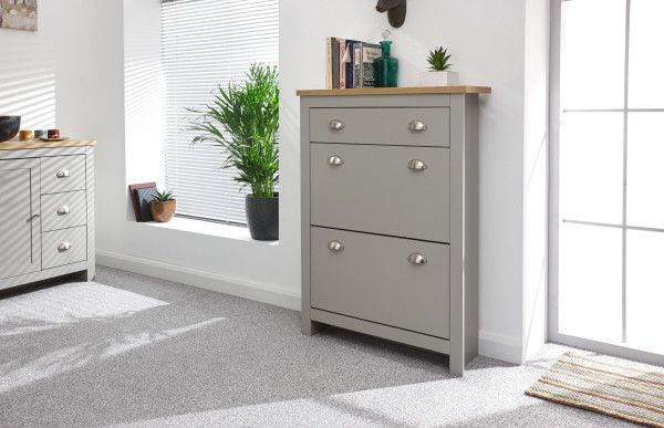 GFW Lancaster 2 Door 1 Drawer Shoe Cabinet £99