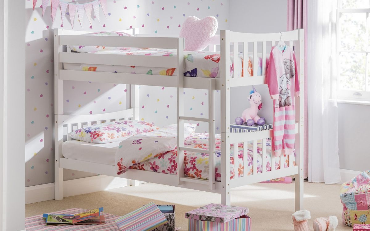 Julian Bowen Zodiac White Bunk Beds £219 out of stock until Sept 2021